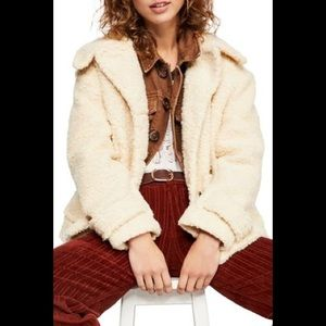 Free People So Soft Faux Shearling Teddy Coat NWOT